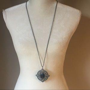 4 for $12: Black Medallion Necklace